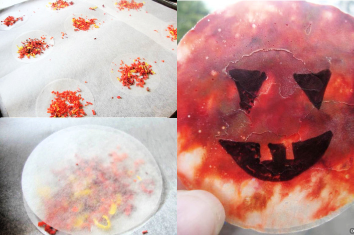 Make wax crayon pumpkins from Domestic Goddesque