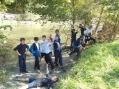 KARS Team at the local Creek