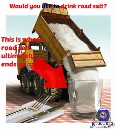 Road Salt ultimately ends up in our drinking water