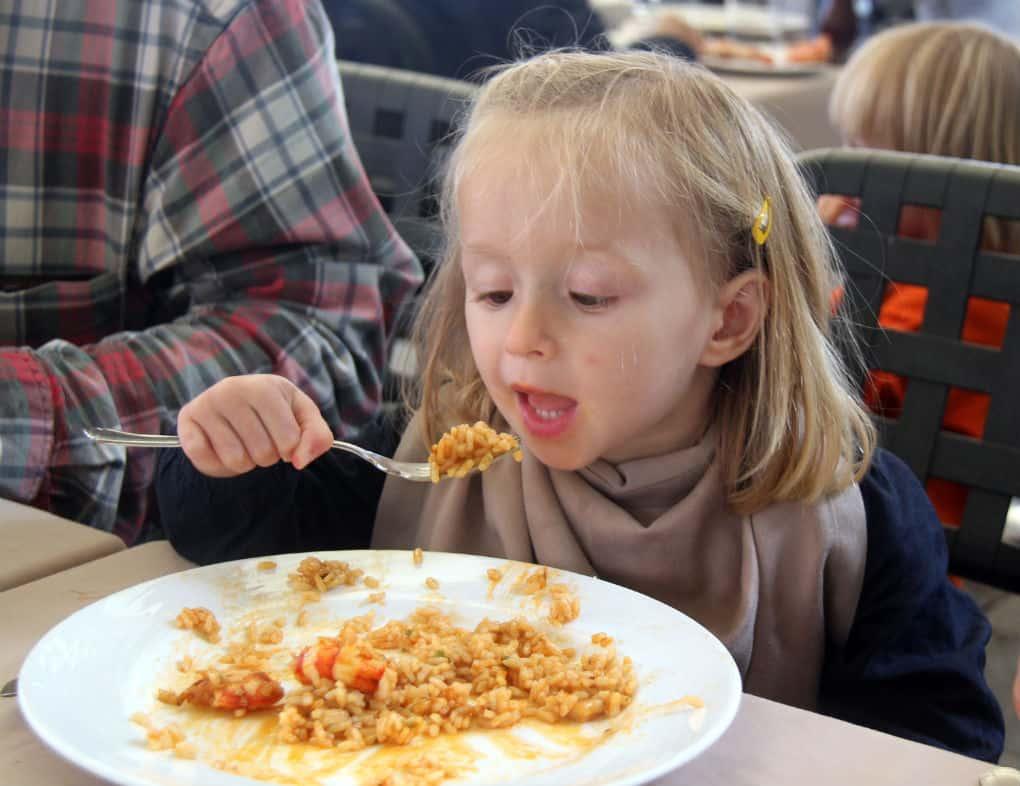 Paella z dziecmi