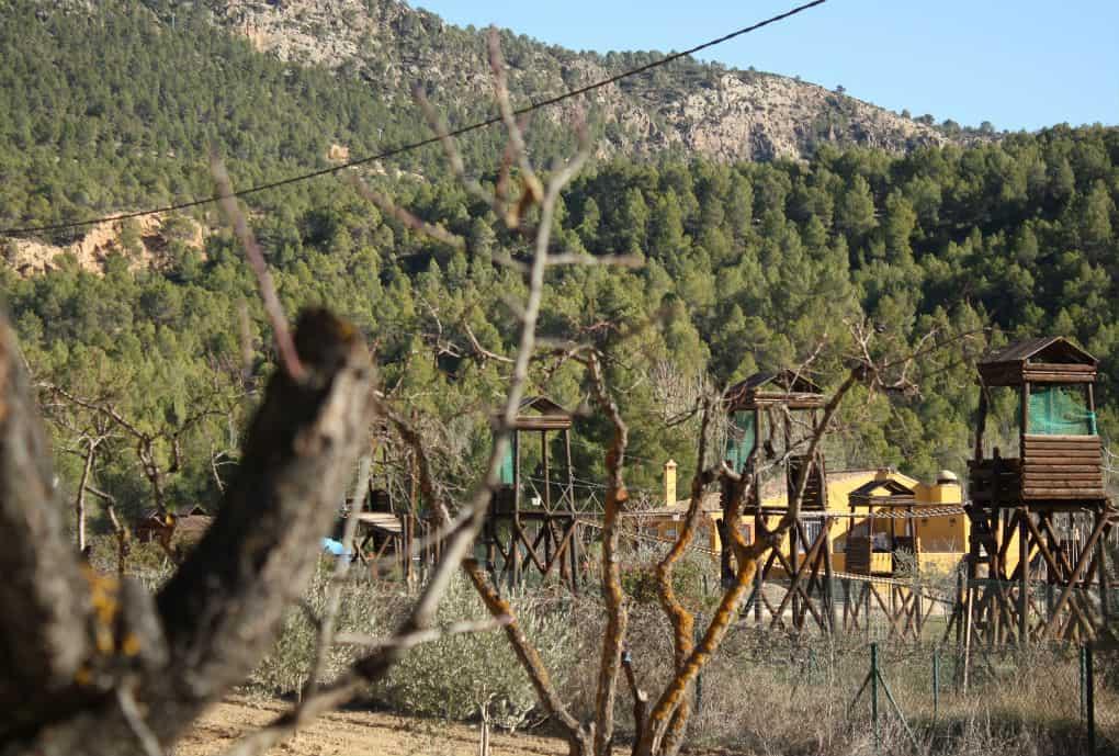 Park linowy przy szlaku Hoces del Cabriel