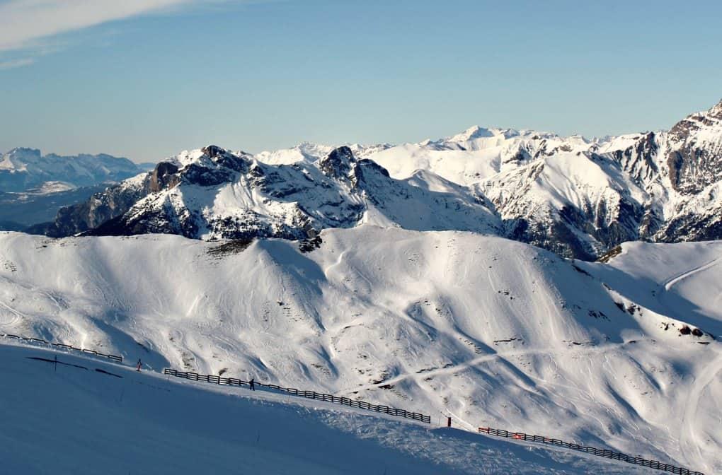 narty w Alpach francuskich