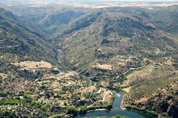 Duero na granicy Hiszpanii