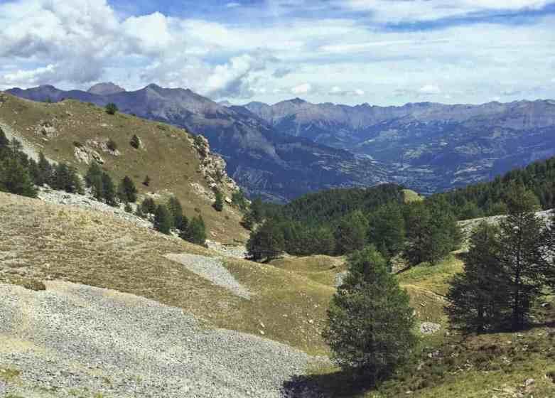 Widok na Doline Ubaye - Alpy Poludniowe-min