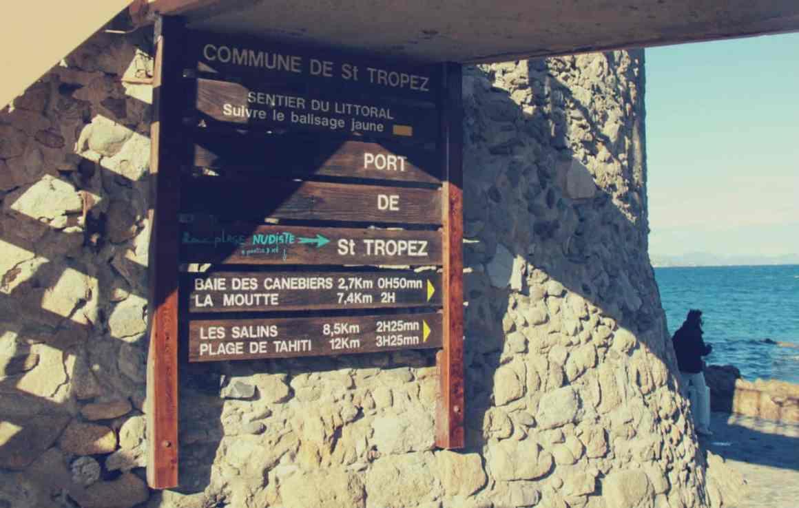 Saint-Tropez - szlaki wzdłuż wybrze