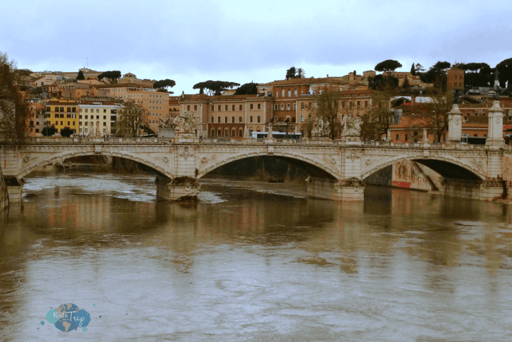 Visiting Rome with Kids Arno River-Kids Are A Trip