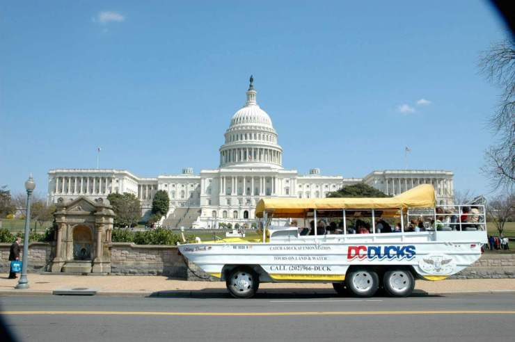 Favorite Things to See and Do in Washington, D.C. with Kids DC Duck Tour-Kids Are A Trip