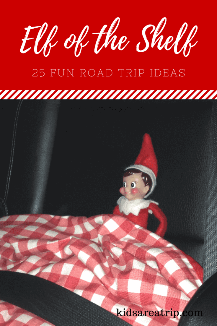 Sometimes you have to take your holiday friend on vacation with you, here are some easy ways to keep the fun going with these Elf on the Shelf Road Trip ideas.