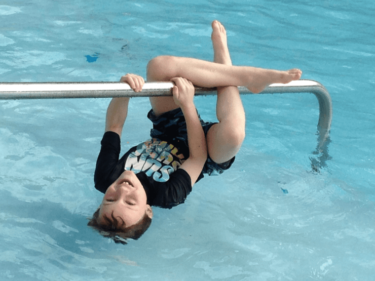 Hanging at the Pool-Kids Are A Trip