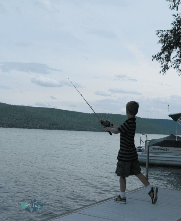 Fishing on Lake Otsego-Kids Are A Trip
