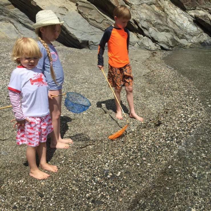 Exploring the Cornwall Beach-Kids Are A Trip