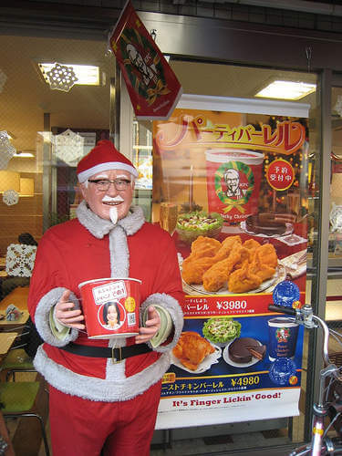 KFC Santa Christmas in Japan-Kids Are A Trip