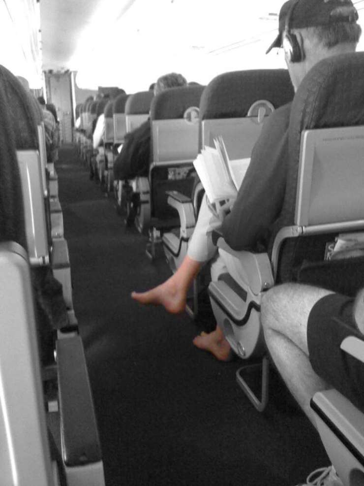 People You Don't Want to Be Stuck Next to on an Airplane No Shoes-Kids Are A Trip