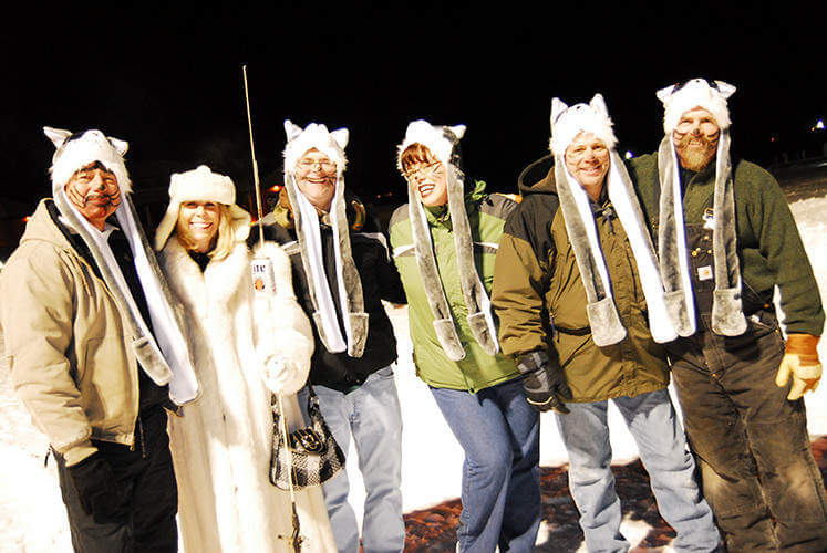 Winterfest in Lake Geneva, Wisconsin Human Dog Sled-Kids Are A Trip