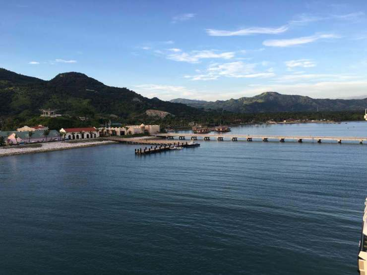 Fathom Cruise view of Amber Cove-Kids Are A Trip