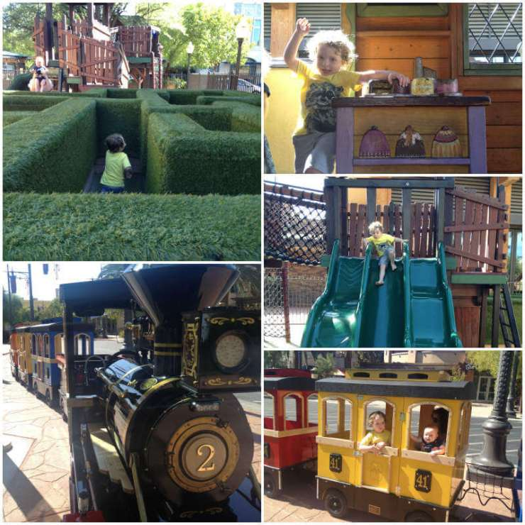 family friendly things to do in las vegas town-square-kids are a trip