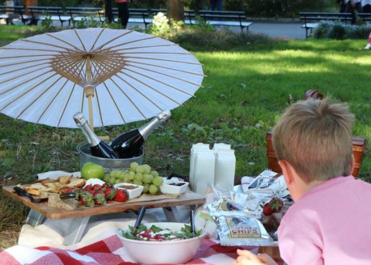 weekend in new york city with kids priceless picnic food-kids are a trip