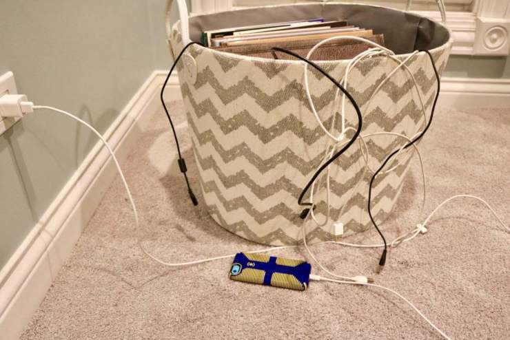 Anker Multi Port Charger Basket of Cords-Kids Are A Trip