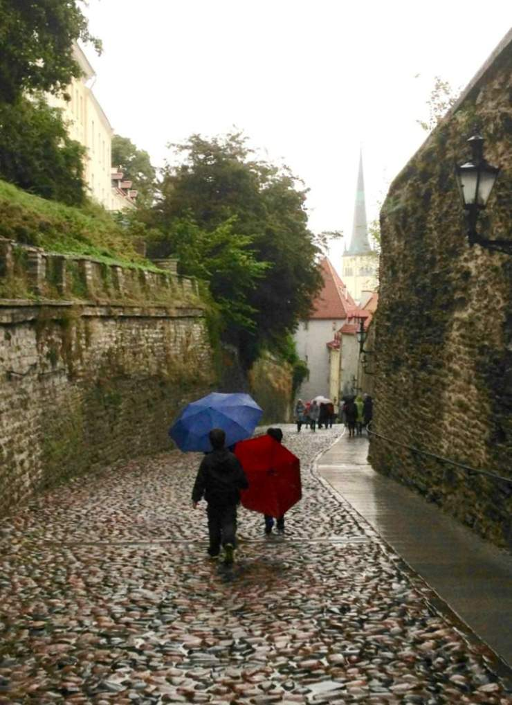 Best Places to Visit in Scandinavia Rainy Day in Tallinn Estonia-Kids Are A Trip
