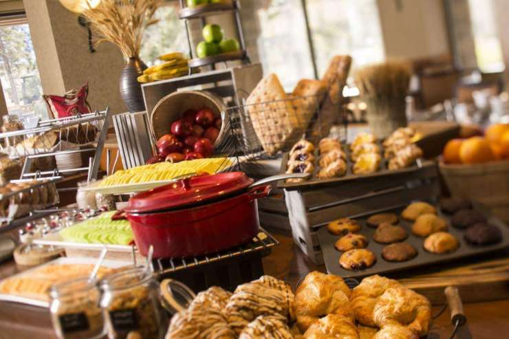Resort at Squaw Creek is Lake Tahoe's Winter Wonderland Breakfast Buffet - Kids Are A Trip
