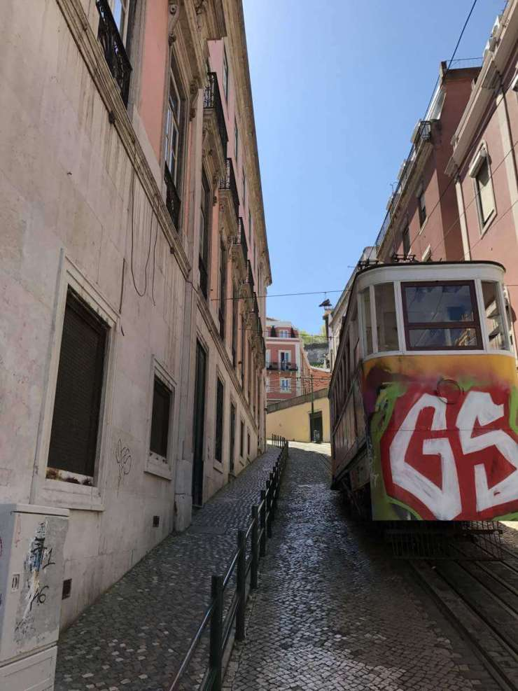 Perfect Weekend in Lisbon ride the funicular-Kids Are A Trip