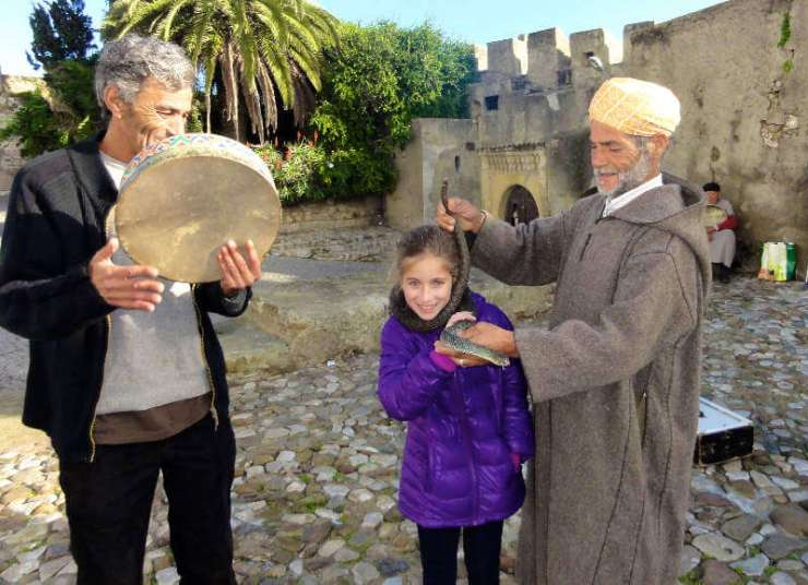 Family Friendly Things to Do in Tangier Morocco Snake Charmer-Kids Are A Trip