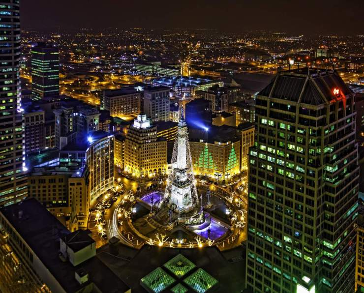 Best Holiday Events in the U.S. Circle of Lights Indianapolis-Kids Are A Trip
