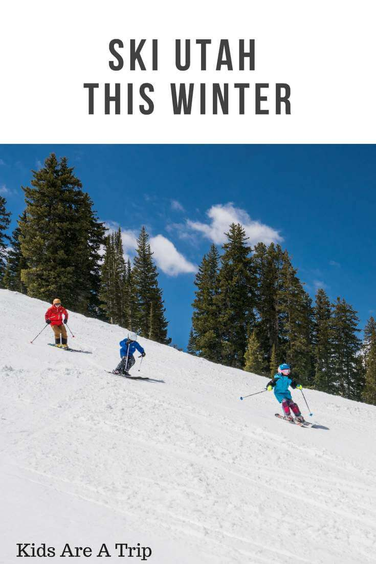 Ski Utah this winter with a Ski Utah Passport and save money for your family. 5th and 6th graders receive discounted admission at 14 different Utah resorts! #ad #skiutah #skiutahpassport - Kids Are A Trip