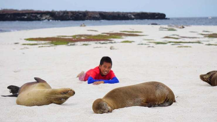 Best Places to Travel with Kids Galapagos Isole-de-Mosquera-Kids Are A Trip