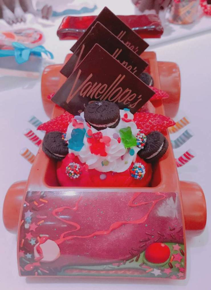 Disney Cruise with Teens Vanellope Ice Cream Sundae-Kids Are A Trip