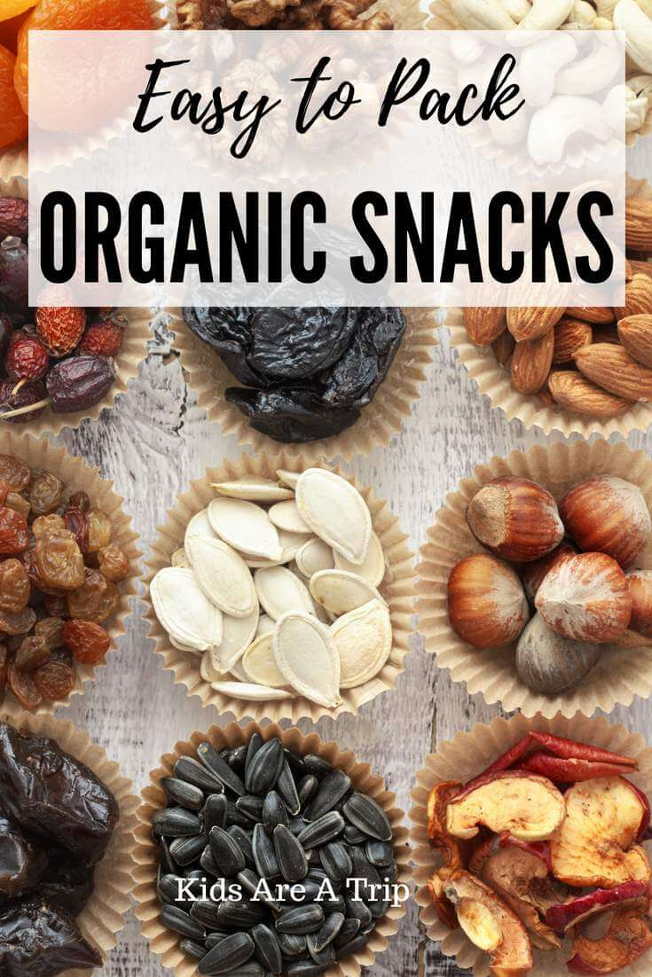 It's important to keep snacks on hand when traveling because you never know when hunger will strike. Here are some of our favorite easy to pack organic snacks to take on your next trip. - Kids Are A Trip
