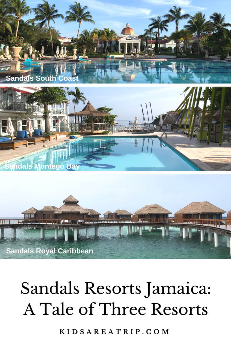 Sandals Resorts in Jamaica are all inclusive properties made for amazing couples vacations. We're comparing three Sandals Jamaica properties to help you book your trip. - Kids Are A Trip