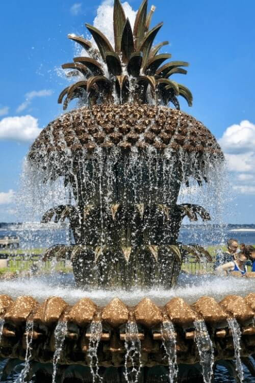 Don't miss Waterfront Park and the Charleston Pineapple Fountain when planning a girls weekend getaway. - Kids Are A Trip
