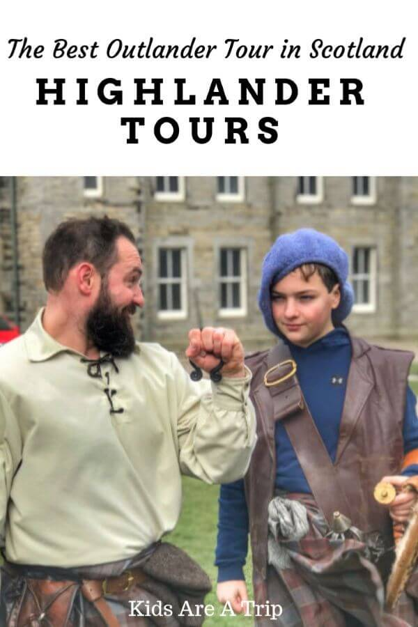 If you are looking for a fun day trip from Edinburgh that involves history and a lot of fun, book a tour with Highlander Tours. Andy has created the best Outlander tour for families with kids of all ages. - Kids Are A Trip