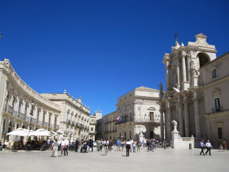 Sicily with kids town square