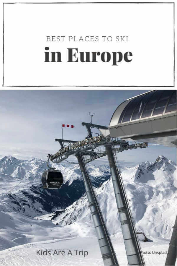 where to ski in Europe with kids gondola - Kids Are A Trip