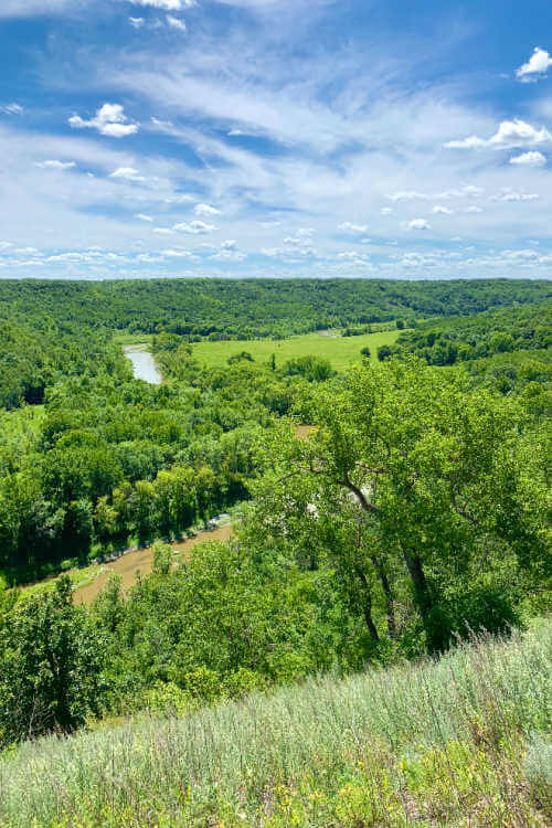 View of Pembina Gorge-Kids Are A Trip
