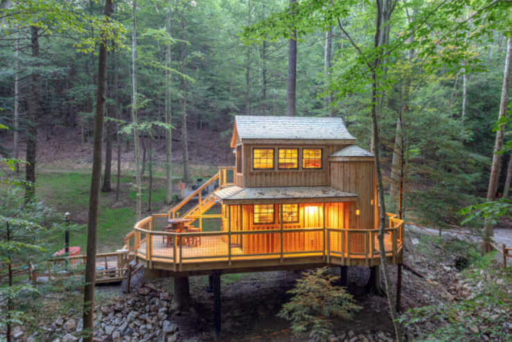 Hocking Hills Treehouse Cabins-Kids Are A Trip