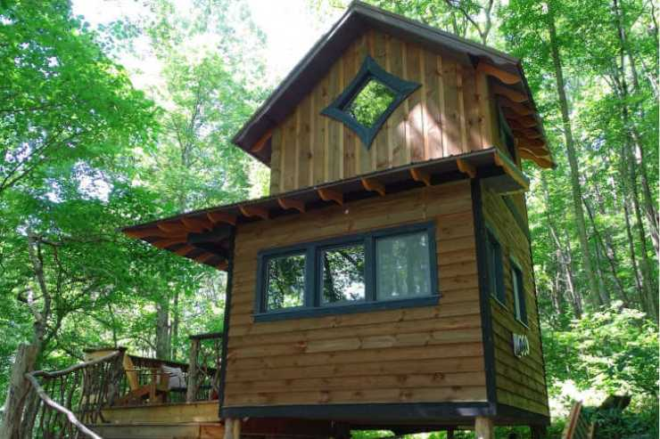 Glamping Asheville Taproot Sanctuary