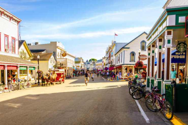 Mackinac Island Main Street-Kids Are a Trip