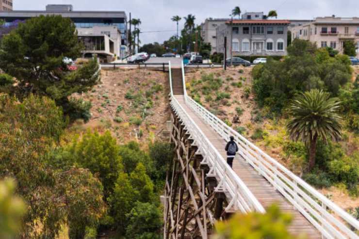 Quince Street Foot Bridge San Diego