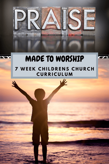 child praising God