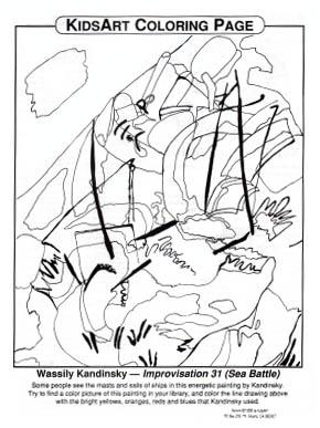 KidsArt Color Kandinsky Color Page