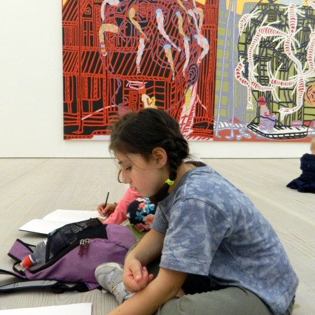 Sketching at Saatchi Gallery