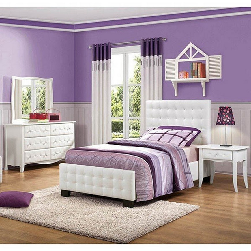 Teenage Girl Bedroom Ideas - Let Purple Rain on their ... on Teenage Bedroom Ideas  id=55544