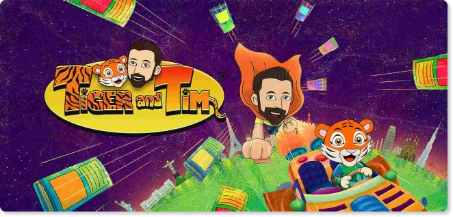 Tiger and Tim | Shows for Kids | utube | Slider image for Kids Shows TV & Baby Songs | KidsBeeTV | Kids fun Videos | educational content and learning quizzes