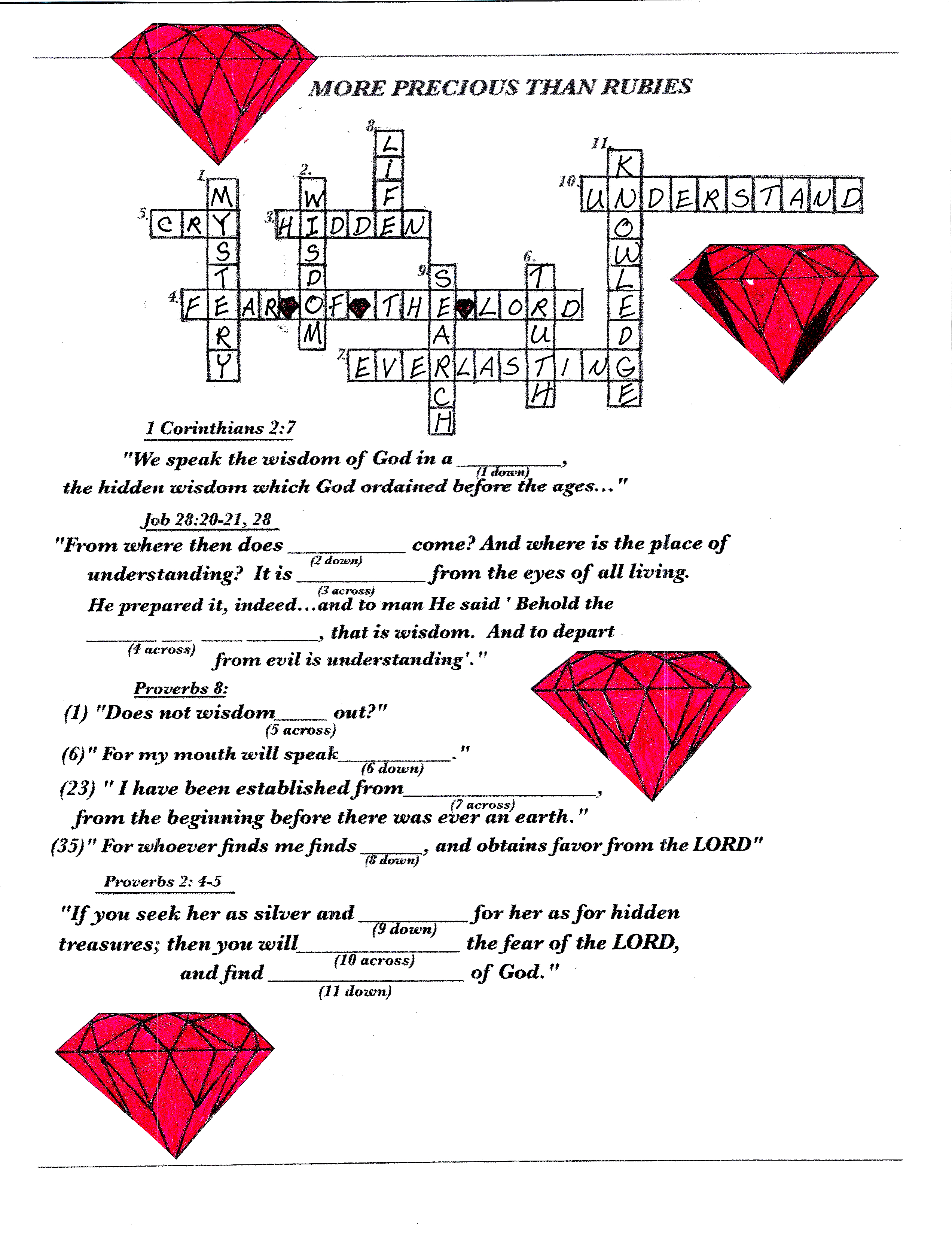 Wisdom Crossword Puzzle
