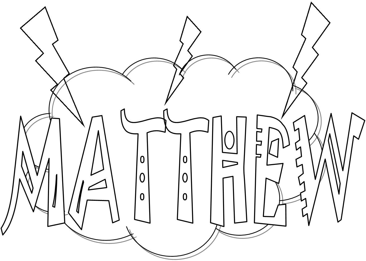 Kids Bible Worksheets Free Printable Matthew Books Of The