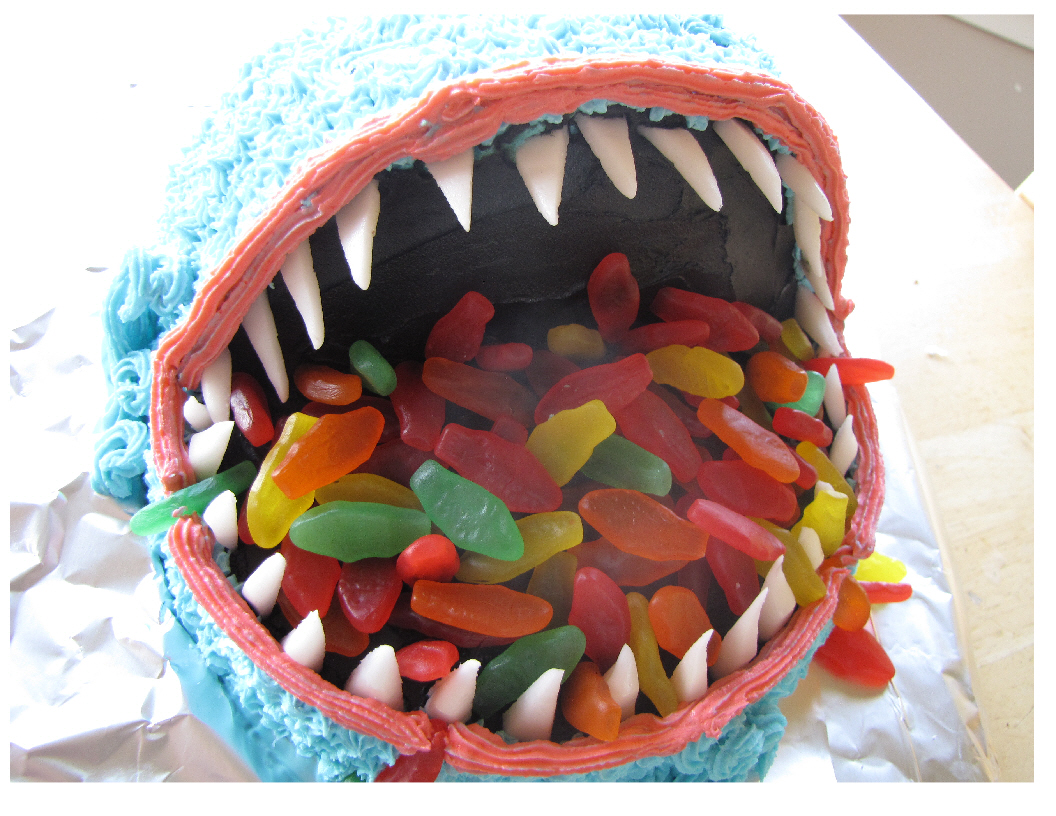 Shark Cake Creates Biting Excitement