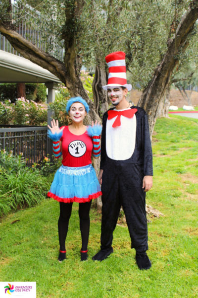 Cat in the hat, thing 1,2